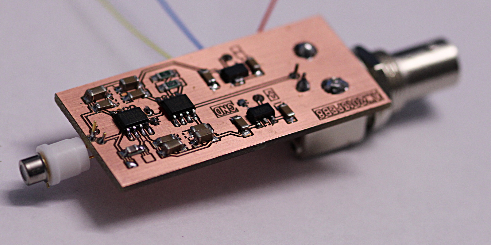 Photodiode The Transimpedance Amplifier Circuit Pd Amp V2 Assembled And Tested