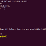 Telnet access works.