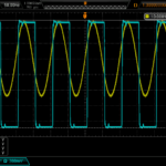 Sine-wave input from clock, 10 MHz CMOS output from LTC6957-3. About 1.4 Vpp into 50R.