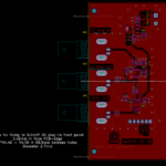 PCB with holes for plug-in mounting.